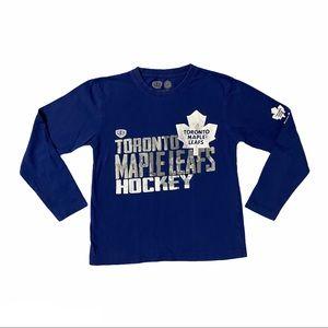 NHL Toronto Maple Leafs Boys Long Sleeve Shirt S